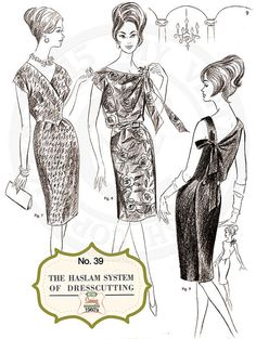 The Haslam System of Dressmaking No. 39  1960's  by MyVintageWish