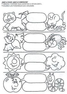 Mi primer etapa escolar : Fichas de apoyo para fortalecer la lectura y escritura First Grade Worksheets, Elementary Spanish, School Psychology, Spanish Lessons, Reading Strategies, Interactive Notebooks, Writing Skills, Teaching Tools, Literacy
