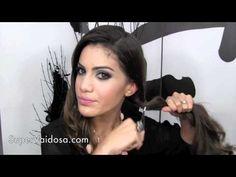 Peinado: moño de lado.Hairstyle: Side bun.Coiffure: chignon de côté. Camila Coelho  https://www.facebook.com/bagatelleoficial Bagatelle Marta Esparza #peinado #moño #bun