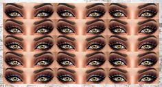 """alaina-lina-cc: """"Glitter Eyeliner This is a black, winged eyeliner topped with a thin line of glitter. Looks really cute worn alone or paired with an eyeshadow of your choosing. I would recommend..."""