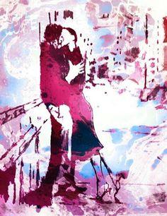 Street Kiss by TonyMazzaART on Etsy, $20.00