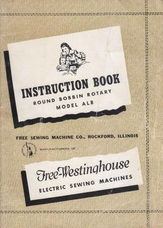 Free Westinghouse Rotary Sewing Machine Manual Model ALB. Examples of what's included: * Setting needle. * Threading bobbin case. * Threading machine. * Stitch length. * Adjusting tension. * Ruffler attachment. * Troubleshooting. * Oiling machine. 36 page manual. You may then print it out if you like. Share this: