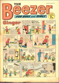 Beezer Comic - A  British comic popular in the 1960's