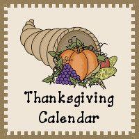 Thanksgiving Calendar Printables