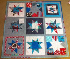 wonky star pirate quilt. by rainbow robot, via Flickr
