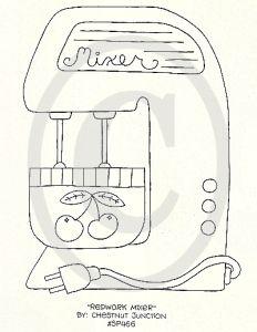 Redwork Mixer--E Pattern by Chestnut Junction