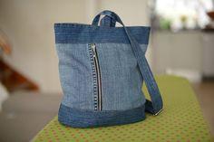 Borsa denim Stoccolma recykled denim borsetta borsa di YYforYou