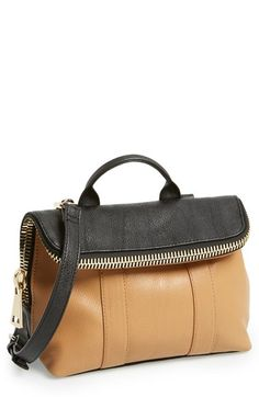 POVERTY FLATS by rian 'Super' Zip Top Foldover Crossbody Bag