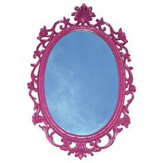 Image of Mid-Century Hollywood Regency Pink French Mirror