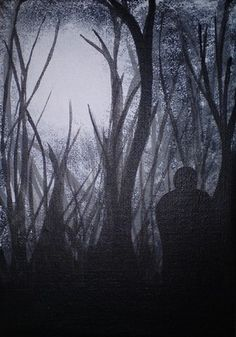 Woodland Figure - Original Acrylic Painting On Canvas