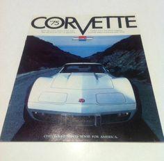 1975 75 Chevrolet Corvette Large Sales Brochure