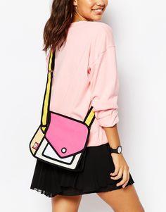 JumpFromPaper+Pink+Colour+Block+Cross+Body+Bag