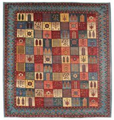 Persian Gabbeh Rugs Gallery: Persian Luri Rug, Hand Knotted In Persia; Size