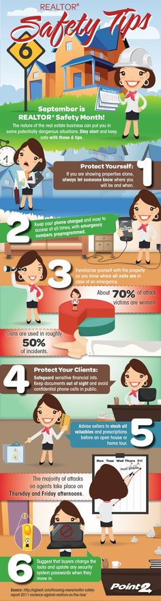 6 REALTOR® Safety Tips [Infographic] | Point2 Agent Real Estate Marketing Blog