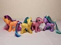 My Little Pony Lot of 4 My Pretty Ponies G3 Lickity Split Meadowbrook EUC's 2002 #Hasbro