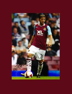 Hand signed picture of Ex West Ham player Valon Behrami