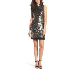 Women's French Connection Moon Rock Sparkle Sheath Dress (375 CAD) ❤ liked on Polyvore featuring dresses, moon rock, white party dresses, party dresses, white dresses, white sparkly dress and french connection dresses
