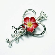 A pendant that you apply your favorite perfume to the flower portion and wear.  Beautiful work!