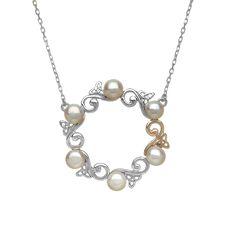 Celtic Pearl Pendant #houseoflor #irishjewelry #irishgold #pendant #sterlingsilver #pearls