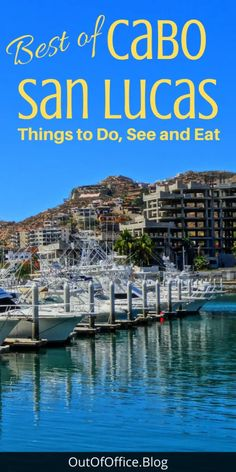 Cabo San Lucas is famous for tacos, tequila and sunshine but there's more to this resort town! Check out these 45 things to do in Cabo San Lucas. Places To Travel, Travel Destinations, Travel Usa, Globe Travel, North America, Central America, Travel Guides, Travel Tips, Visit Mexico