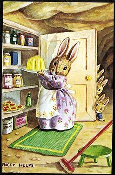 Illustration by Racey Helps (English author & illustrator, 1913-1970)- postcard via eBay