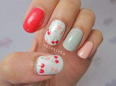 My Extreme Nails Guide: Heart these #Nails Nail art www.finditforwedd...