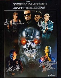 TERMINATOR ANTHOLOGY (Linda Hamilton, Michael Biehn, Edward Furlong, Robert Patrick & Kristianna Loken) 11x14 Cast Signed Photo Signed In-Person - http://www.rekomande.com/terminator-anthology-linda-hamilton-michael-biehn-edward-furlong-robert-patrick-kristianna-loken-11x14-cast-signed-photo-signed-in-person/
