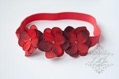Hydrangea Cluster Flower Headband/ Hårpynt til Jul