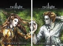 The graphic novel twilight covers - love how their hands line up!