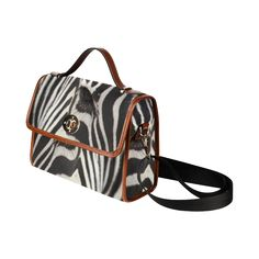 Zebra Waterproof Canvas Bag/All Over Print. FREE Shipping. #artsadd #bags #zebra