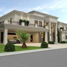 Dream House Interior, Luxury Homes Dream Houses, Dream Home Design, Modern House Design, Classic House Design, Modern Houses, House Interior Design, Modern House Facades, Mansion Interior