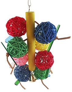 Zeroyoyo Cockatiel Bird Parrot Chew Toy Multicolored Bird Cage Hanging Accessory 1PCS -- Be sure to check out this awesome product.Note:It is affiliate link to Amazon.