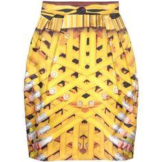 MARY KATRANTZOU Mini skirt ($305) ❤ liked on Polyvore