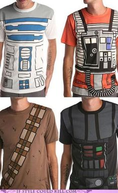 Star Wars T's. I should buy one of these for each of my brothers! Remind me of Underoo's!
