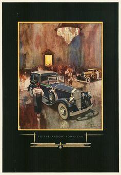 contains 468 image files and original prints - Vintage Advertisement, Automobiles, Etc. Vintage Advertisements, Vintage Ads, Vintage Posters, Classic Motors, Classic Cars, Car Dates, Automobile, Art Deco Illustration, Car Posters