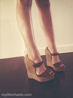 Love these. Cuts across the front of the foot, but low enough not to complete cut your legs off