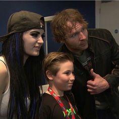Paige, Dean Ambrose, & A Young Fan