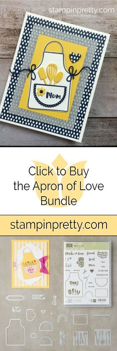 Click to Buy the Apron of Love Bundle by Stampin' Up! Card created by Mary Fish, Stampin' Pretty. Shop online 24/7! #maryfish #stampinpretty
