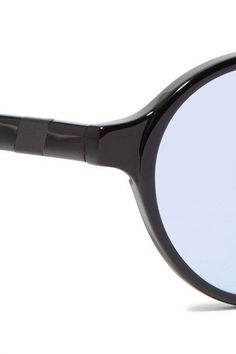 Westward Leaning - Round-frame Acetate Sunglasses With Clip-on Lenses - Black - one size