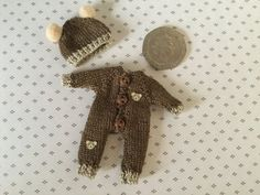 Miniature knitted dollshouse 1:12th toddler by SharonsMiniKnits