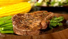 Simple Grilled Thick Cut Pork Chops
