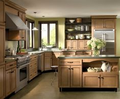 New Light Maple Cabinets With Glaze Homecrest Cabinetry on Kitchen Light Maple Kitchen Cabinets White Shaker Kitchen Cabinets, Maple Cabinets, Kitchen Cabinetry, Gray Cabinets, Homecrest Cabinets, Ikea, Outdoor Kitchen Countertops, Transitional Kitchen, Kitchen Colors