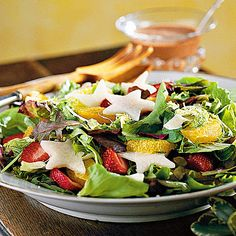 Thanksgiving Dinner Side Dishes: Cranberry-Strawberry-Jicama Salad Recipe (thanksgiving dinner recipes)