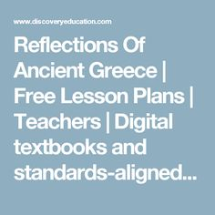 Discovery Education inspires educators to go beyond traditional learning with award-winning digital content and professional development. Digital Textbooks, Free Lesson Plans, Ancient Civilizations, Ancient Greece, My Teacher, Professional Development, Biology, Discovery, Evolution