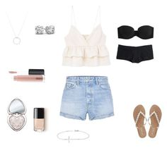 """""""Summer Time"""" by skylerrburton ❤ liked on Polyvore featuring MANGO, GRLFRND, Calvin Klein Underwear, Madewell, M&Co, Roberto Coin, Allurez, Too Faced Cosmetics and MAC Cosmetics"""
