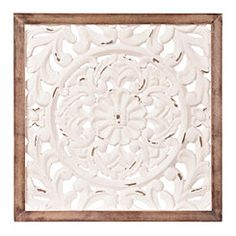 Ivory Baroque Scroll Plaque