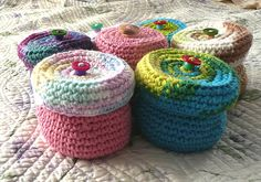 Cajas crochet algodon
