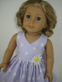 18 Inch Doll Clothes American Girl Lavender Daisy Easter Outfit