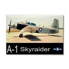 A-1 Skyraider Attack Bomber Rectangle Magnet #Magnets #Aircraft
