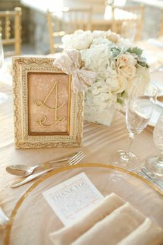 love the table number